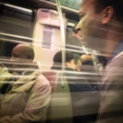 Franck Rondot Photographe   024   Paris  RER E  train  urbain